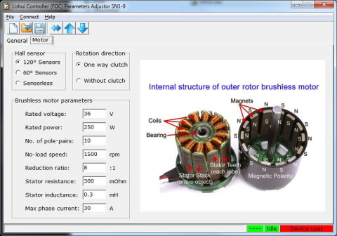Lishui Programmierung Motor